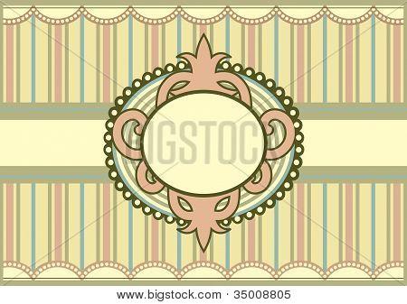 Pastel Colored Vintage Invitation