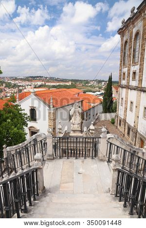 Coimbra University Buildings And Coimbra City View In Portugal. Unesco World Heritage Site.