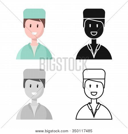 Isolated Object Of Physician And Portrait Symbol. Set Of Physician And Ambulance Stock Vector Illust