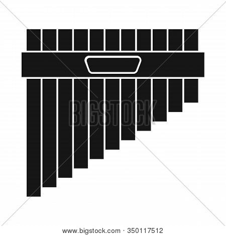 Vector Design Of Flute And Pan Symbol. Web Element Of Flute And Panpipe Stock Symbol For Web.