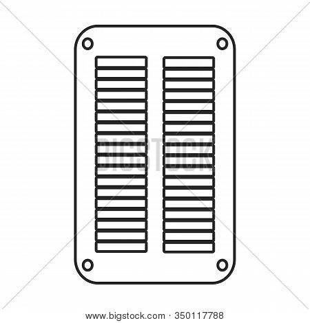 Ventilation Grate Vector Icon.outline, Line Vector Icon Isolated On White Background Ventilation Gra