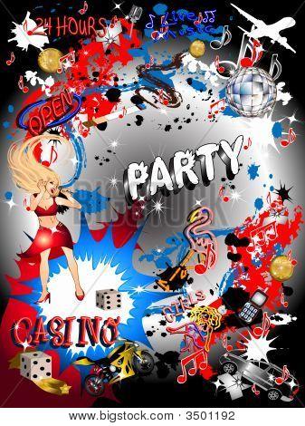Graffiti Casino Party