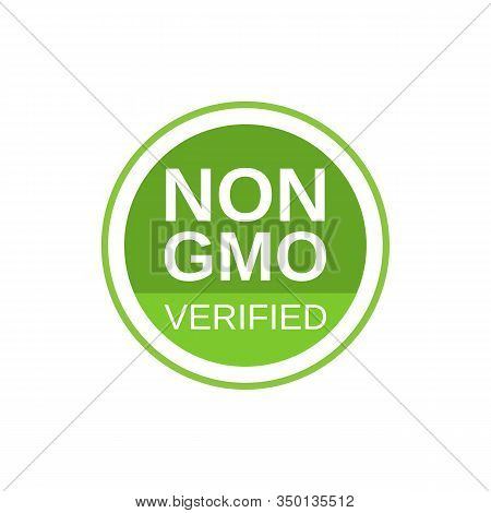 Non Gmo Verified Label. Gmo Free Icon. No Gmo Design Element For Tags, Product Packag, Food Symbol,