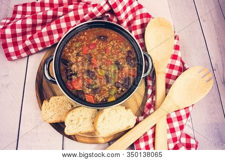 Chili Con Carne With Beef Kidney Beans And Spices