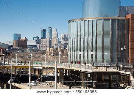 MINNEAPOLIS-MINNESOTA, APRIL 6th, 2018: Bruininks Hall at the University of Minnesota, Twin Cities, a public research university in Minneapolis and Saint Paul, Minnesota