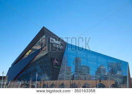 MINNESOTA-MINNEAPOLIS APRIL6, 0218:  US Bank Stadium, the home of the Minnesota Vikings, a professional American football team based in Minneapolis, Minnesota