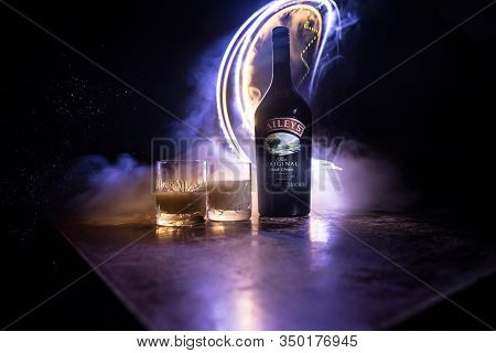 Baku, Azerbaijan - Feb 09, 2020:, 2016: Baileys Irish Cream Is An Irish Whiskey- And Cream-based Liq