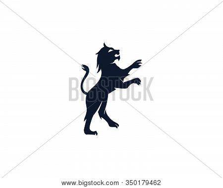 Lion Logo Template Vector Icon Illustration