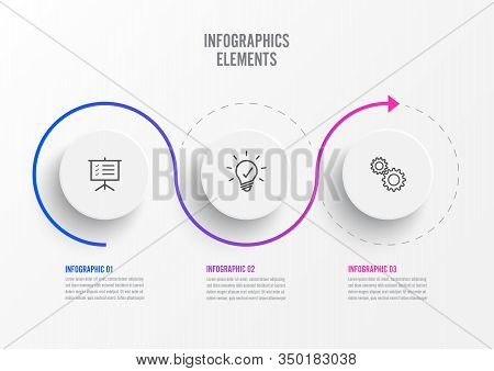 Abstract Elements Of Graph Infographic Template With Label, Integrated Circles. Business Concept Wit
