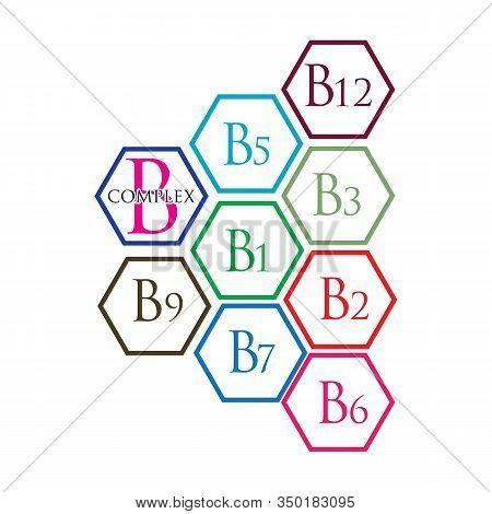 B Complex Vector Icon Illustration Design Template