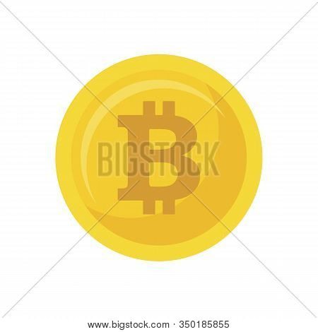 Bitcoin Icon Isolated On White Background, Bitcoin Icon Trendy And Modern Bitcoin Symbol For Logo, W