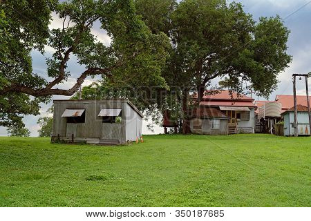 An Old Australian Colonial Homestead Built By The Early Settlers To North Queensland