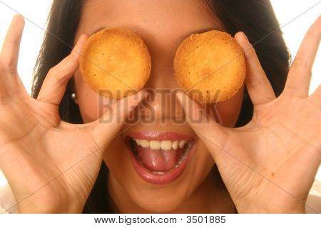 Woman With A Biscuit