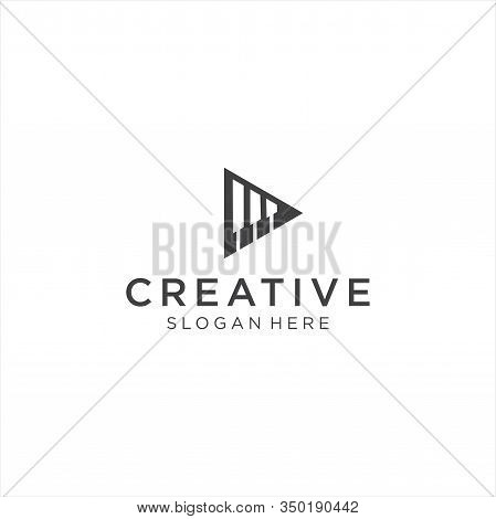 Play Piano Logo Template .triangle Piano Logo Business Design