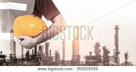 Future Factory Plant And Energy Industry Concept.