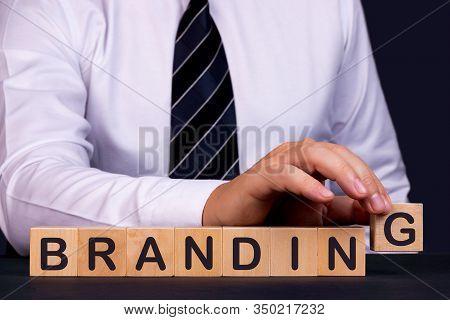 Man Made Words Branding With Wood Blocks.