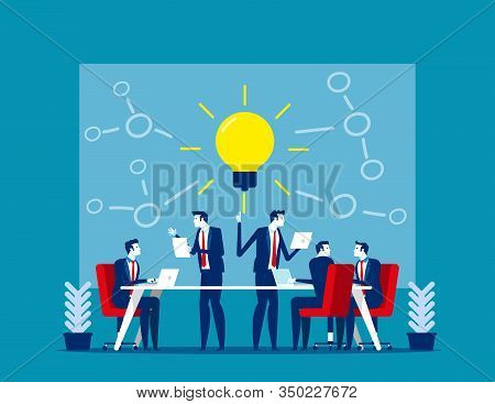 Team Cohesiveness And Creative. Concept Business Vector Illustration, Employees Engagement, Cohesion
