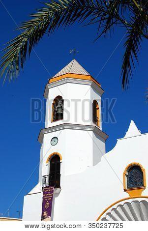 Fuengirola, Spain - August 08, 2008 - Our Lady Carmen Parish Church Bell Tower (parroquia Nuestra Se