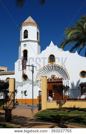 Fuengirola, Spain - August 08, 2008 - Front View Of Our Lady Carmen Parish Church (parroquia Nuestra