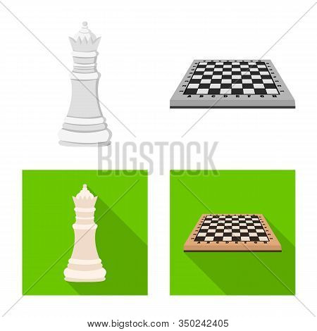 Vector Design Of Checkmate And Thin Sign. Collection Of Checkmate And Target Stock Vector Illustrati
