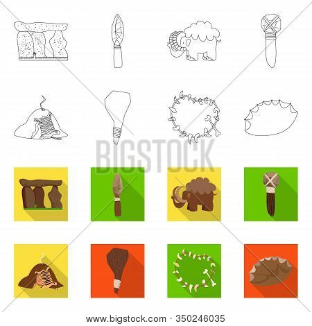 Isolated Object Of Evolution And Prehistory Sign. Collection Of Evolution And Development Stock Vect