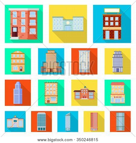 Vector Design Of Municipal And Center Icon. Collection Of Municipal And Estate Stock Vector Illustra