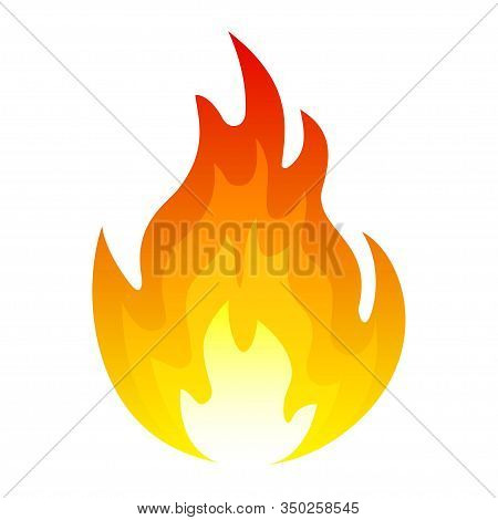 Burning Fire Icon, Explosion And Blazing Element