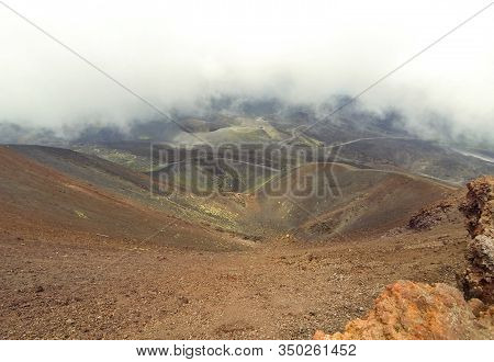 Crater Silvestri Superiori (2001m) On Mount Etna, Etna National Park, Sicily, Italy. Silvestri Super