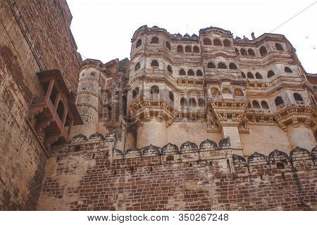Jodhpur, Rajasthan / India »; August 2016: The Beautiful Windows Of The Mehrangarh Fort In The City