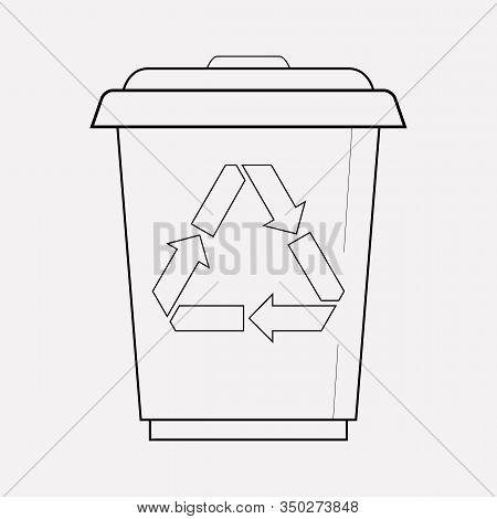 Reduce Waste Icon Line Element. Vector Illustration Of Reduce Waste Icon Line Isolated On Clean Back