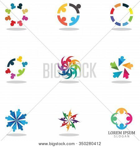 Community Logo, Teamwork Logo ,group Logo