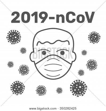 Mers-cov Middle East Respiratory Syndrome Coronavirus , Novel Coronavirus 2019-ncov , Flat Silhouett