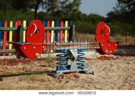 Playground's Wooden Horse And Moto