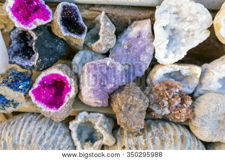 Beautiful Geode - Insignificant Outside And Amazing Inside - Sold As Souvenirs In Morocco