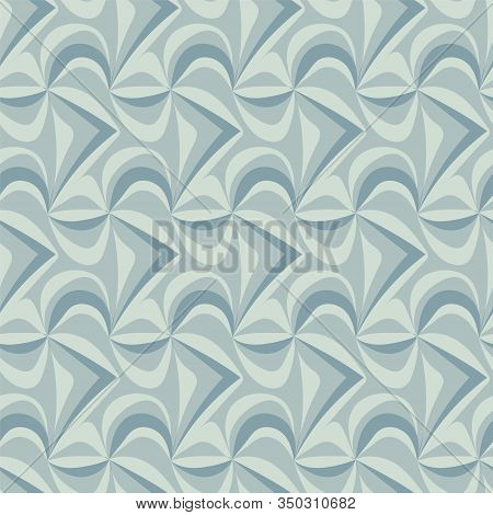 Seamless Vector Abstract Tessellation Patteern In Muted Colors. Decorative Unisex Surface Print Desi