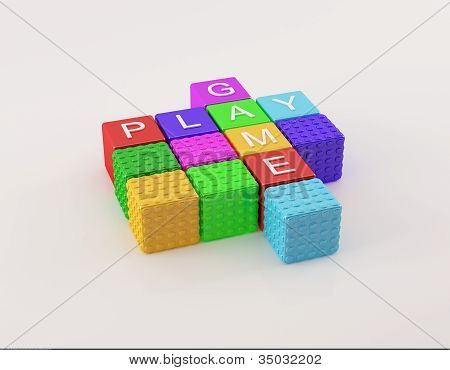 Colorful Play-Game boxes