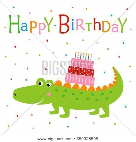 Amazing Happy Birthday Card Vector Photo Free Trial Bigstock Funny Birthday Cards Online Alyptdamsfinfo