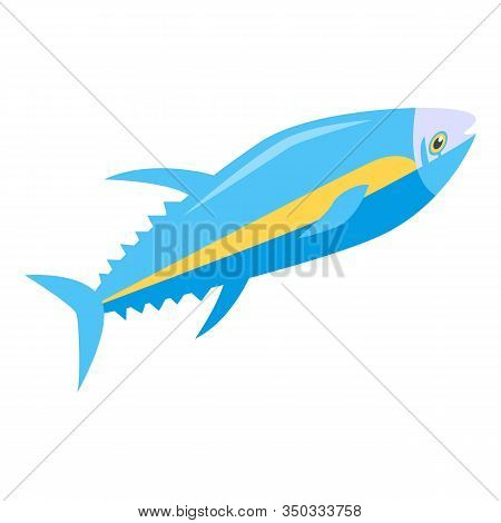 Tuna Fish Icon. Isometric Of Tuna Fish Vector Icon For Web Design Isolated On White Background