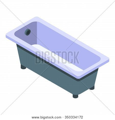 Classic Bathtub Icon. Isometric Of Classic Bathtub Vector Icon For Web Design Isolated On White Back