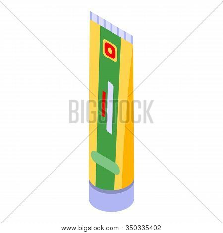 Mustard Tube Icon. Isometric Of Mustard Tube Vector Icon For Web Design Isolated On White Background