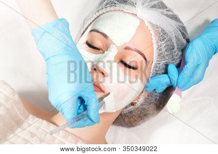 Cosmetic Face Mask Treatment. Beauty Treatments For Skincare.