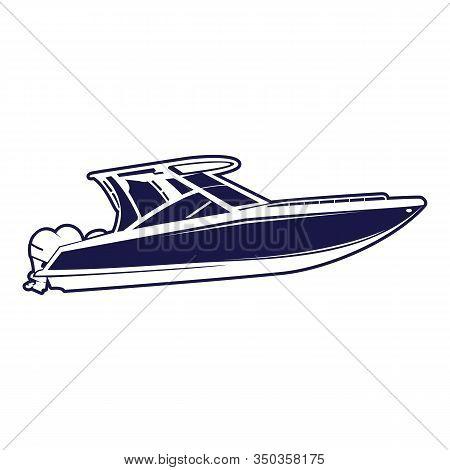 Ship Logo, Nautical Sailing Boat Icon Vector Design, Boat Ship Sea Logo, Cruise Ship Logo Template V