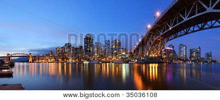 Granville Bridge and Downtown Vancouver British Columbia poster