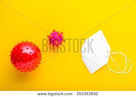Chinese Coronavirus, Wuhan Virus, Coronavirus Outbreak And Coronaviruses Influenza. Yellow Backgroun