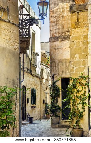 Alley In The Old Town Of Lecce Puglia Italy