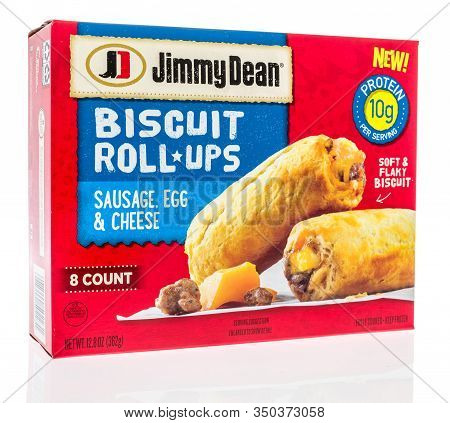 Winneconne,  Wi - 11 February 2020:  A Package Of Jimmy Dean Sausage, Cheese, Egg, Biscuit Roll Ups