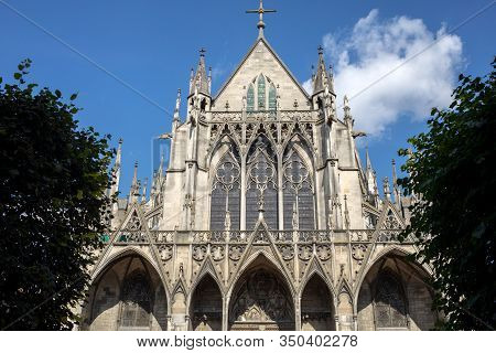 Basilique Saint-urbain, 13th Century Gothic Church In Troyes, France