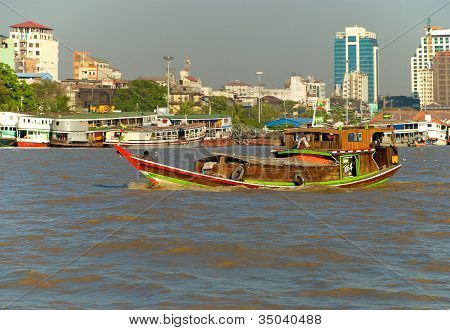 Asian wooden boat