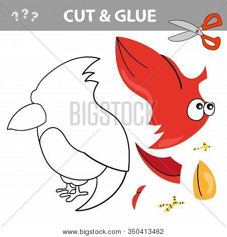 Education Paper Game For Children. Use Scissors And Glue To Create The Image. Cut And Glue Game With