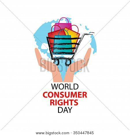 World Consumer Rights Day Concept On White Background.